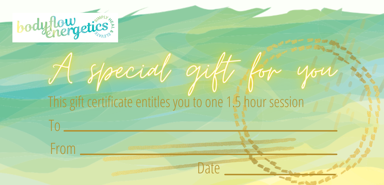 Bodyflow Energetics session gift certificate