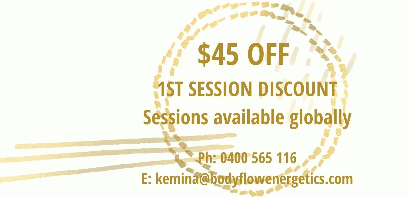$45 off first session discount Bodyflow Energetics